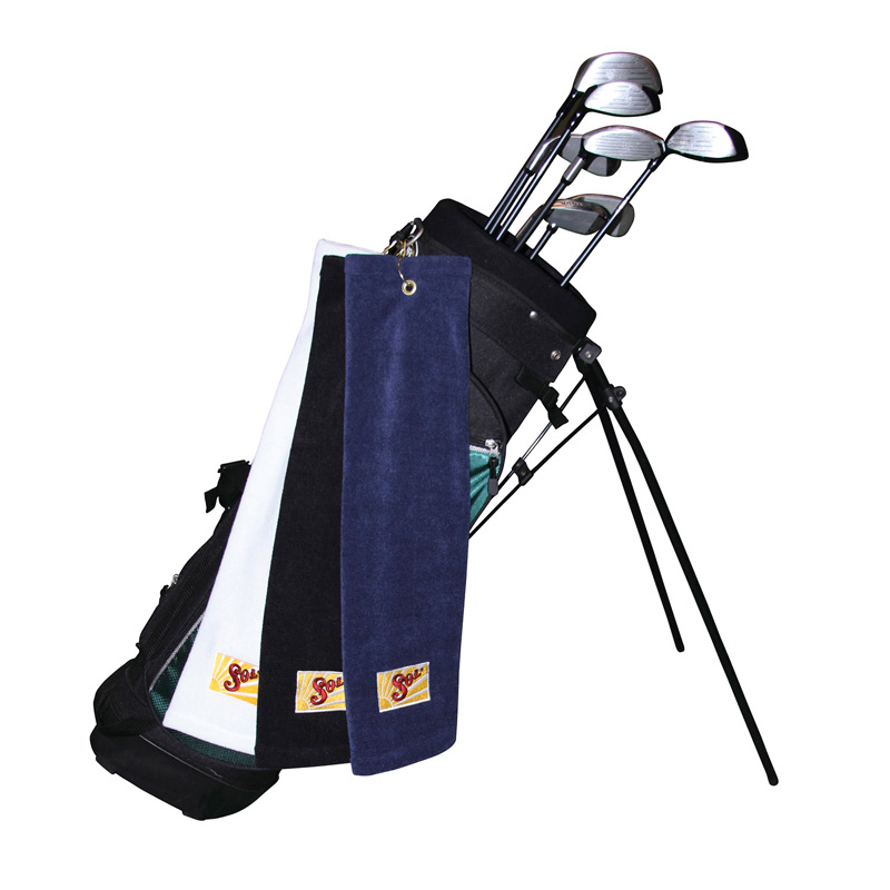 Microfiber Scrubber Golf Towel - Trifolded (Embroidered)