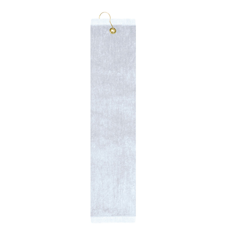 Premium Velour Golf Towel - Trifolded (White Embroidered)