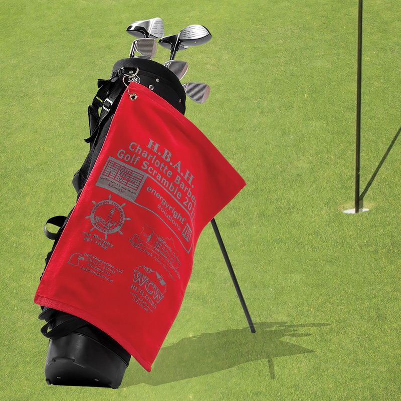 Premium Golf Towel - Trifolded (Color Embroidered)