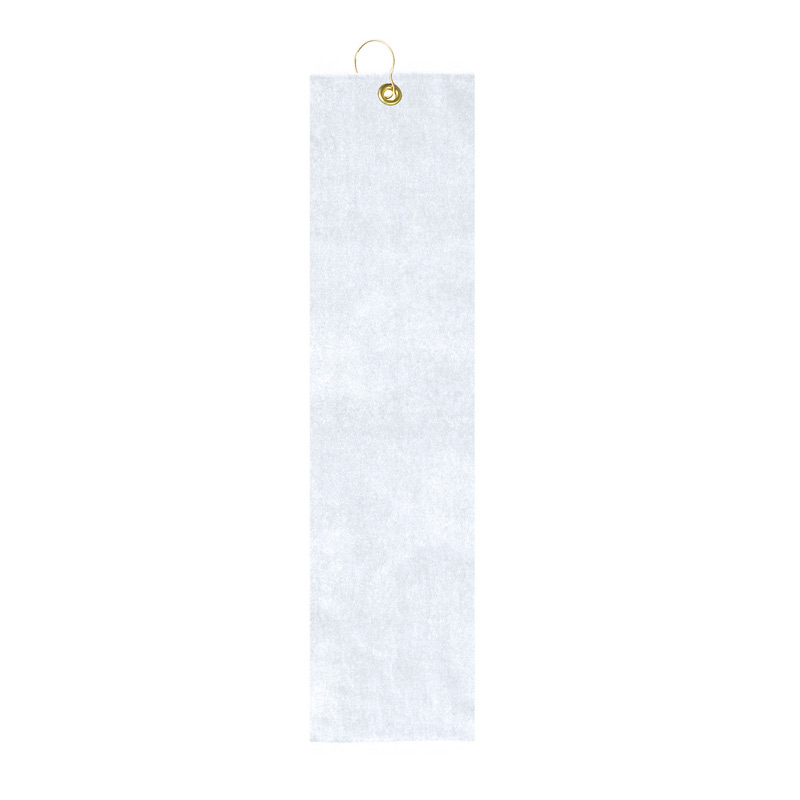 Mid Weight Velour Golf Towel - Trifolded (White Imprinted)
