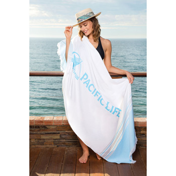 Peshtemal Beach Towel with Bamboo Loops (Printed)