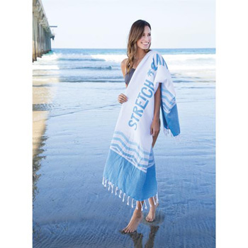 Aegean Peshtemal Beach Towel (Screen Printed)