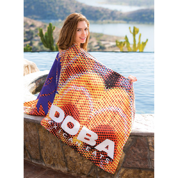 Microfiber Velour Beach Towel (Edge to Edge Printed)