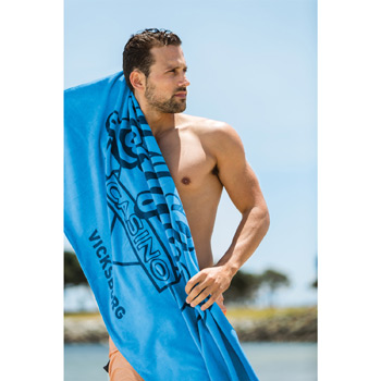 Promotional Velour Beach Towel (Color Towel, Tone on Tone)