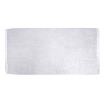 King Size Dobby Hem Velour Beach Towel (White Embroidered)