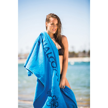 Oversized Velour Terry Beach Towel (Color Embroidered)