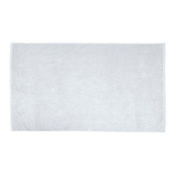 Oversized Velour Terry Beach Towel (White Embroidery)