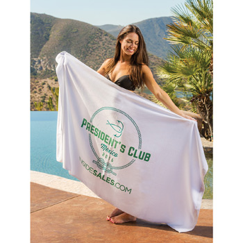 Billboard Size Super Heavyweight Velour Beach Towel (Embroidered)