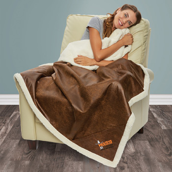Sherpa Lined Rustic Ranch Throw (Embroidered)