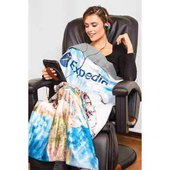 Sublimated Grab-N-Go Travel Blanket (Sublimated)