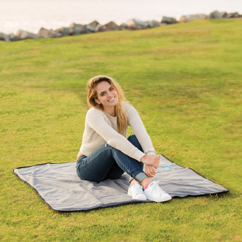 Lined Polar Fleece Picnic Blanket (Embroidered)