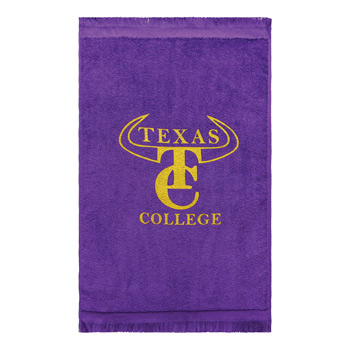 Premium Fringed Velour Fingertip & Spirit Towel (Color Embroidered)