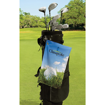 Microfiber Velour Trifolded Golf Towel (Sublimated)