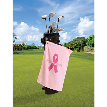 Medium Weight Velour Golf Towel - Trifolded (Color Imprinted - Tone on Tone)