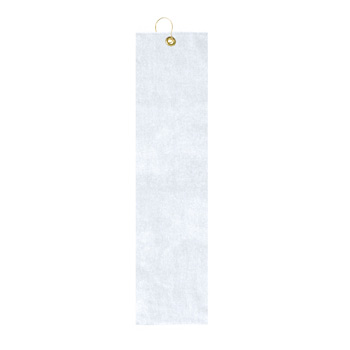 Medium Weight Velour Golf Towel - Trifolded (White Imprinted)