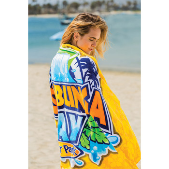 "Overseas Fiber Reactive Loop Terry Beach Towels (30"" x 60"")"