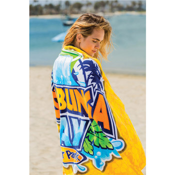 "Microfiber Reactive Beach Towel (30""x60"")"