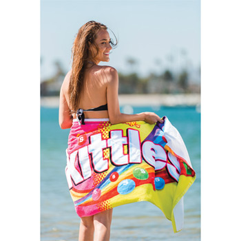 "Custom Fiber Reactive Premium Terry Velour Beach Towel (30""x60"")"
